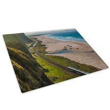 Benone Ireland Beach Green  Glass Chopping Board Kitchen Worktop Saver Protector