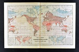 1873-Physical-World-Map-Air-Temperature-Isothermal-Lines-Climate-Zones-Arctic