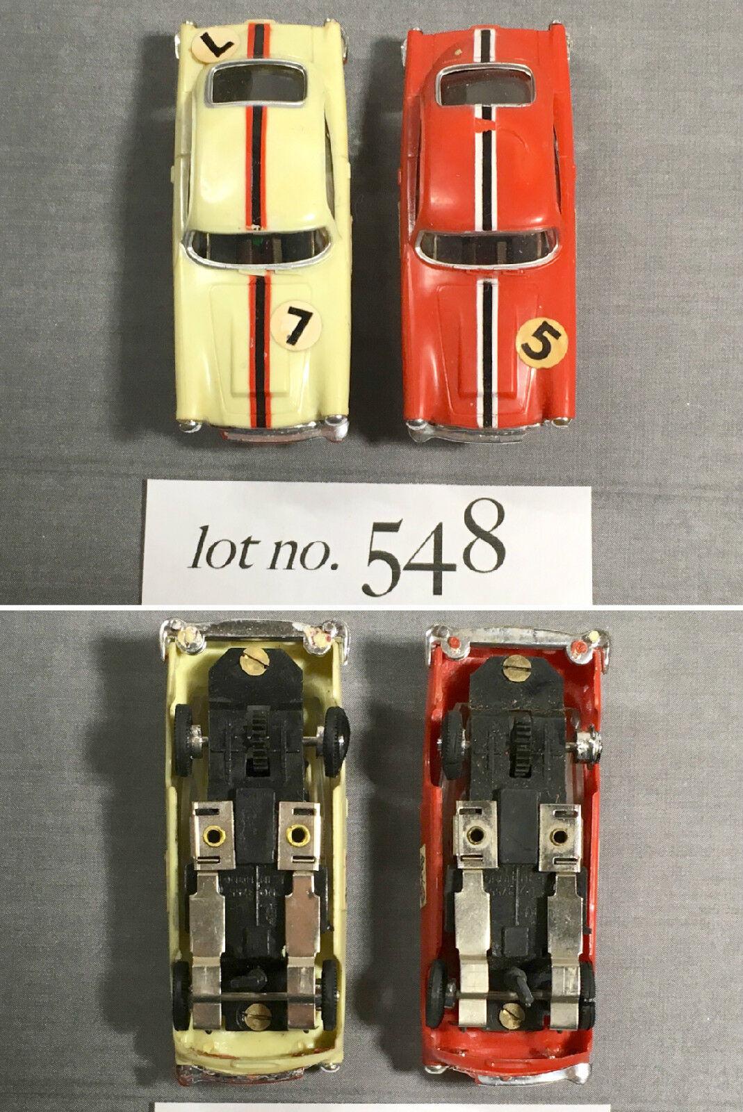 2pc 1960-talet Hong Kong Kader 1964 Aston Mkonstin Db5 Slot bil Pair Sällsynt Sydamerika