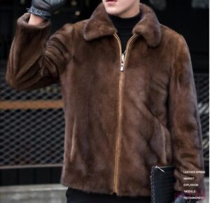 New Mens Real Fur Coat Furry Warm Thick Casual Winter Jacket Outwear Parka 6XL