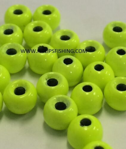 "TUNGSTEN FLY TYING BEADS CHARTREUSE 2.0 MM 5//64/"" 100 CT"