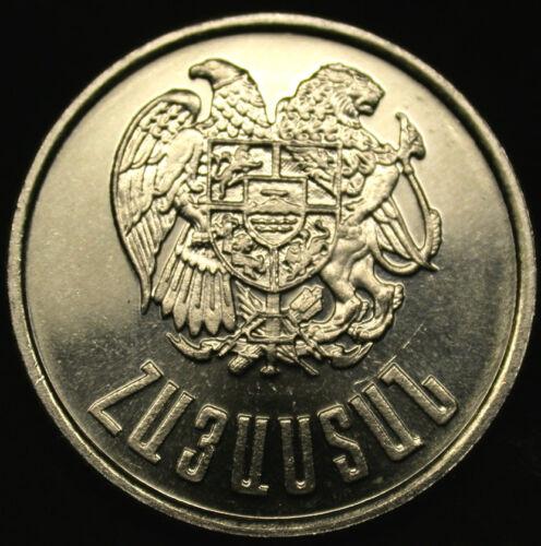 1994 ARMENIA 3 DRAM Coin Uncirculated Gem RARE WAR ERA One Year Only Coin!