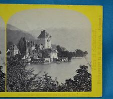 1860s Suisse Stereoview 121 Chateau D'Ober-Ofen Thun Alpine Club William England
