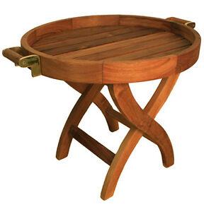 Das Bild Wird Geladen  Teakholz Klapptisch Tablett KlappBar Gartentisch Massiv Teak Tisch
