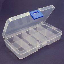 Box transparent 7 Fächer mit Deckel Sortierbox Perlenbox Kunststoff 15x3,3x1,8cm