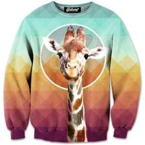 BRAND NEW Beloved Shirts GIRAFFE SWEATSHIRT SMALL-3XLARGE CUSTOM MADE TO ORDER