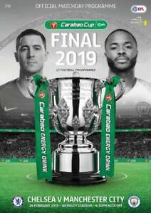 * 2019 CARABAO CUP FINAL PROGRAMME - CHELSEA v MAN CITY (24th February 2019) *