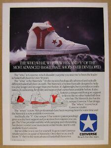 14f8517665f8 1985 Converse MAVERICK Basketball Hi-Top Shoes photo vintage print ...