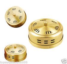 Portable Acupuncture Moxa Box Stick Burner Moxibustion roll box set Beauty Gold