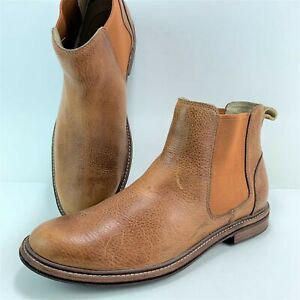 ae21d766f50 Details about UGG Leif Men's Size 9.5 Brown Leather Chelsea Boots #1009221