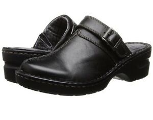 Women-s-Eastland-Mae-Mules-Black-Clogs-Size-7-M-EUR-37-5-New-Free-Shipping