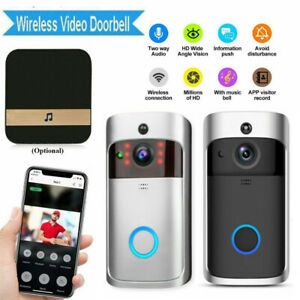 Wireless Smart Door Bell Chime Home Security Camera System ...