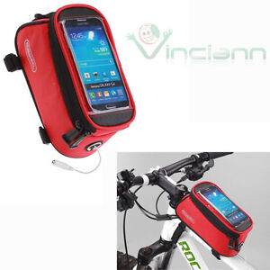 Borsa-custodia-bicicletta-12496L-C5-touch-ROSSA-per-HTC-One-M8-M8s-mountain-bike