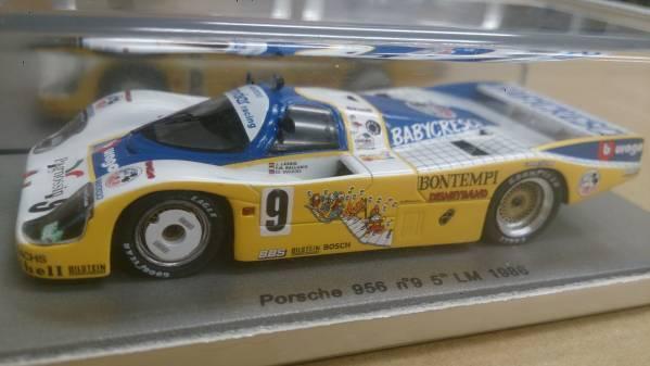 Spark 1/43 Porsche 956  9 5th Le Mans 1986 NA004 Babycresci/Bburago
