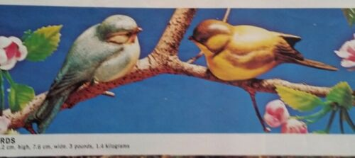 3 x 8 cm 1 Giessform für Keramik A-406 2 Vögel in 1 Form