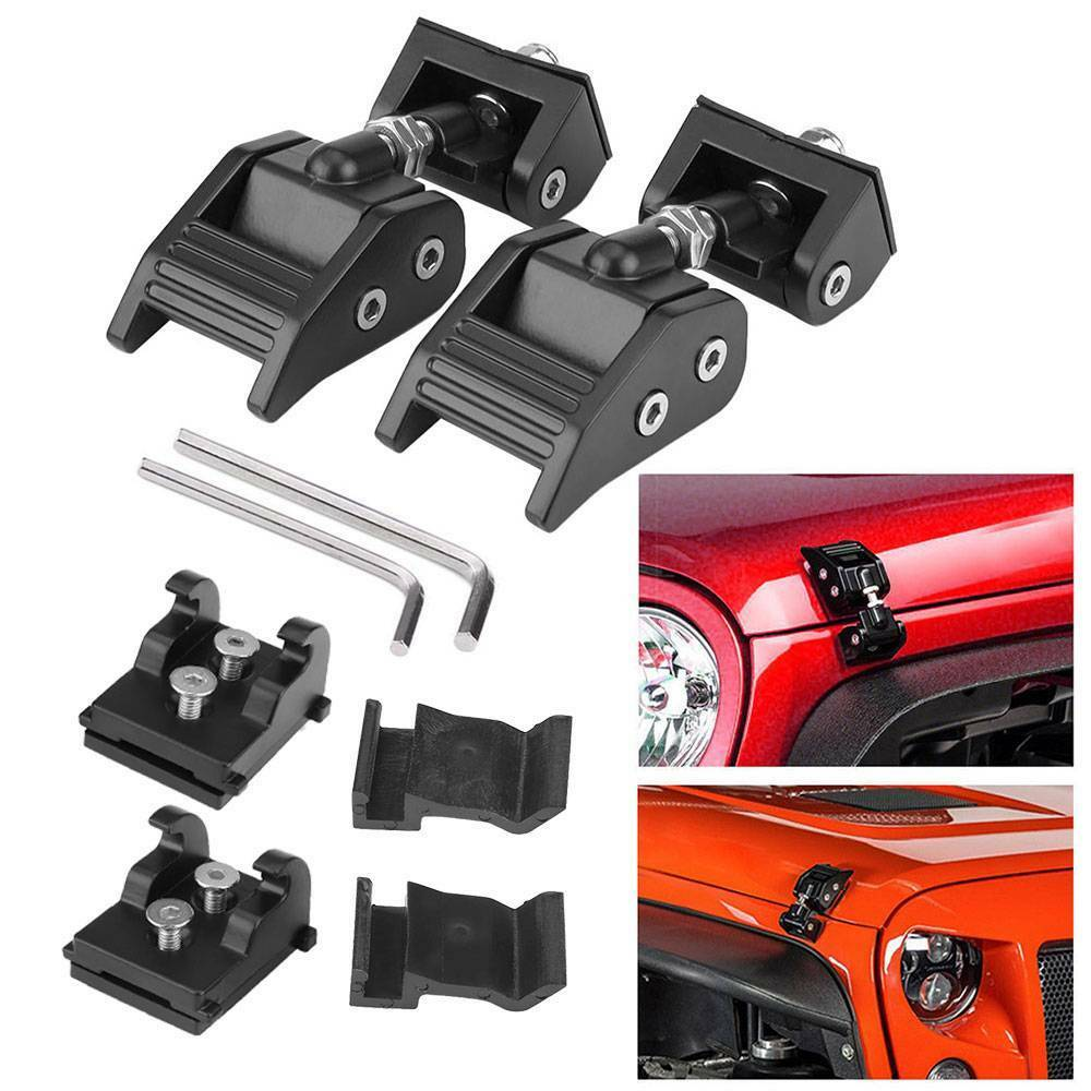 FOR 2007-2017 JEEP WRANGLER BLACK PAIR HOOD LATCH LOCK CATCH WRANGLER JK PARTS