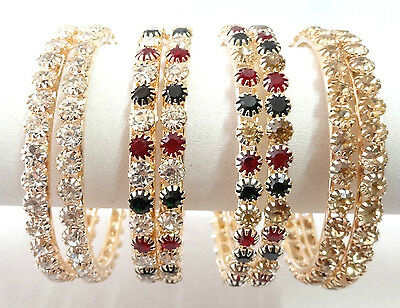 Indian Bollywood Fashion Costume jewelry bangle CZ gold silver bracelet 740