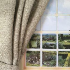 Sample-Natural-Wool-Effect-Made-to-Measure-Curtains-Huge-Large-Long-Bay-Window