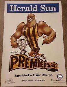 HAWTHORN-2013-AFL-LIMITED-EDITION-PREMIERSHIP-POSTER-MARK-KNIGHT-WEG-134