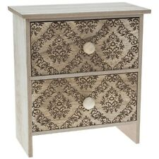 Brown Wooden Unit Chest Shabby Chic Drawers Jewellery Makeup Trinket Storage Box