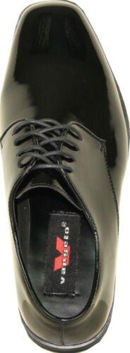 VANGELO// TUX-1 Dress Tuxedo For Wedding Prom Wrinkle Free Black Patent Size 15W