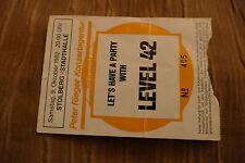 TICKET LEVEL 42  1982  GERMANY