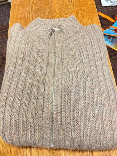 Women's Inis Meain cable knit sweater XL cashmere… - image 1
