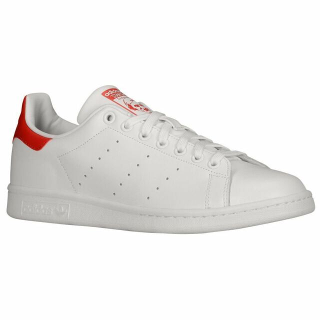 Adidas Stan Smith White Red Mens Trainers