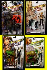 Danger Girl 7 Figure Set PVC New 1999 DC Comics Abby Chase Major Maxim Amricons