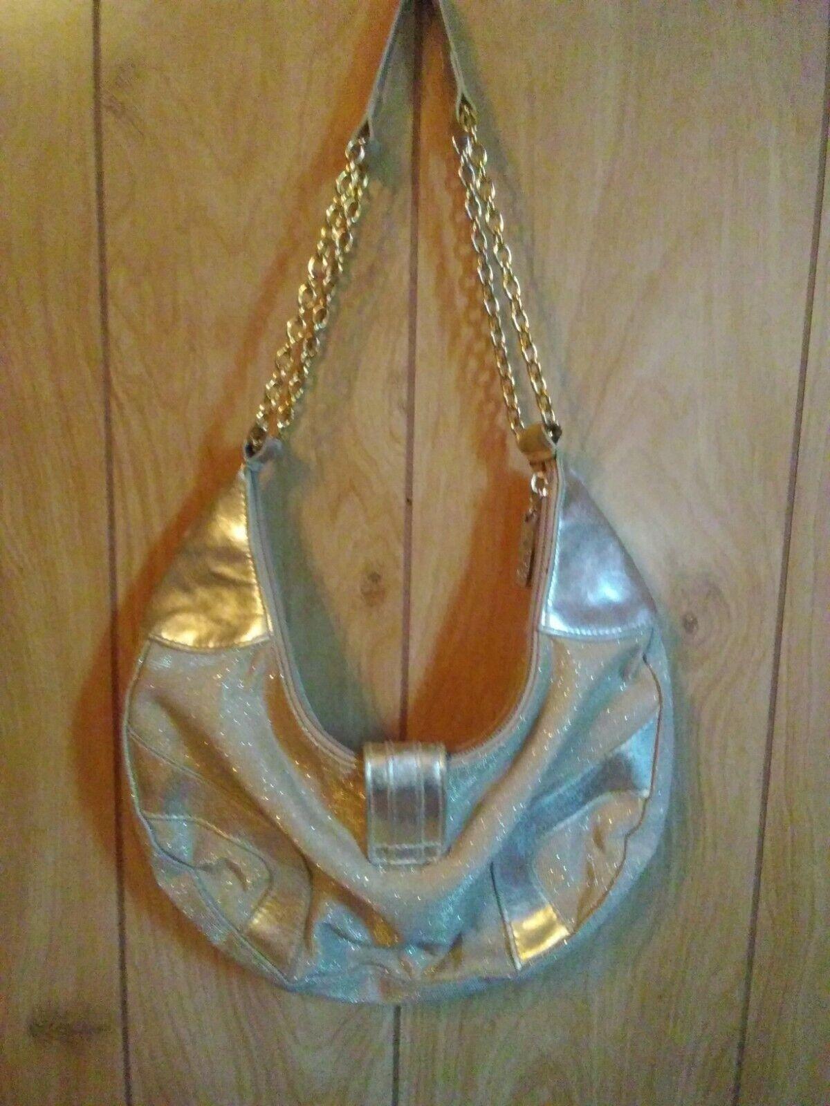 Fetish brand Gold handbag/purse w/ gold chain han… - image 2