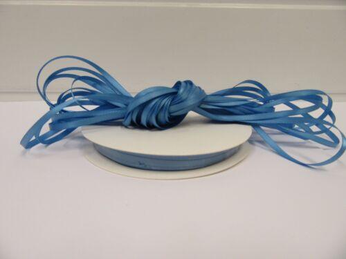 3mm 7mm 10mm 15mm 25mm 38mm 50mm Cornflower Light Blue Satin Ribbon double sided