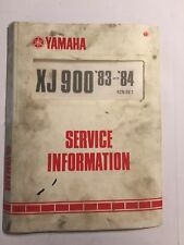 YAMAHA XJ900 SERVICE INFORMATION OEM MANUAL DATA SPECS PARTS ID & WIRING 1983-91