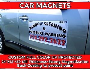 Car Door Magnets Two With Custom Graphics High Quality Door Sign