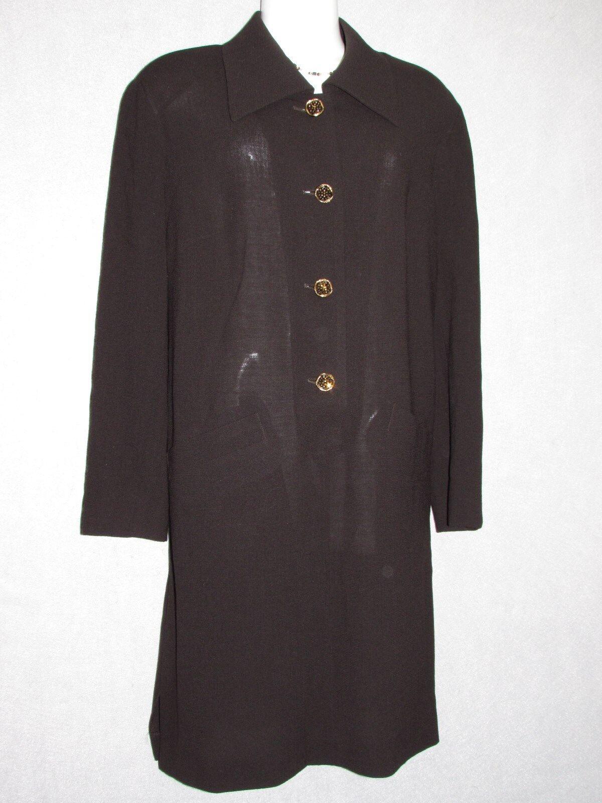 LOUIS FERAUD Maroon New Wool Long Sleeve Shirt Dress SZ 10 NEW