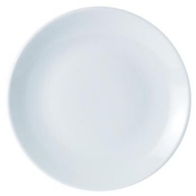 Branded Custom Plate Personalised Round Circle Coupe Simply White Crockery