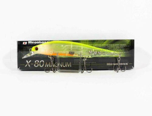 Megabass X-80 Magnum Sinking Lure GLX Skelton Chart Back 7192
