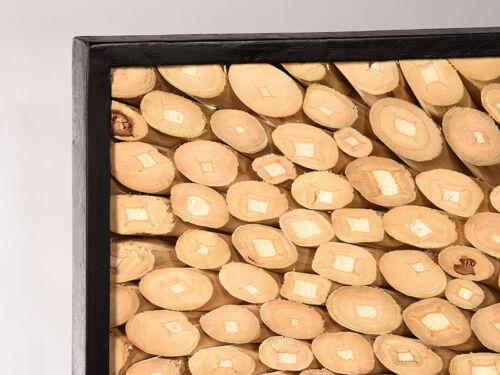 Wandbild Focus Natur Teakholz Ästen Natur Deko Wand Deko Holz Holzbild Treibholz