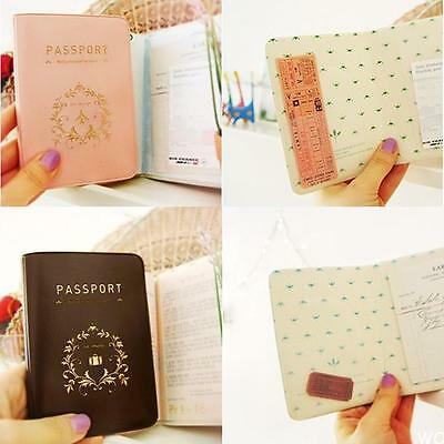 WOAU Travel Utility Simple Passport ID Card Cover Holder Case Protector PVC Skin