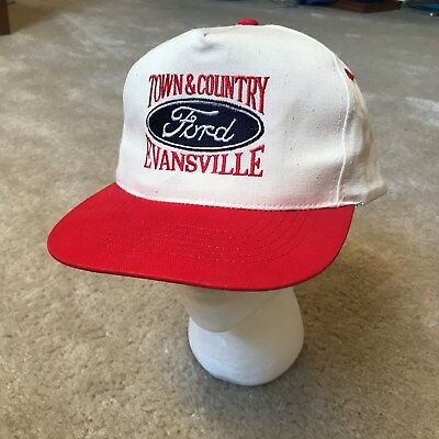 Ford Dealership Evansville >> Vtg Ford Dealership Ball Cap Hat Trucker Town Country Evansville