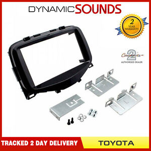 CT23TY51-Double-Din-Stereo-Fascia-Facia-Panel-Piano-Black-For-Toyota-Aygo-2014-gt