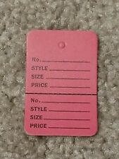 Unstrung Pink Flamingo Perforated Coupon Price Tags 1 14 X 1 78 1000 Open Box