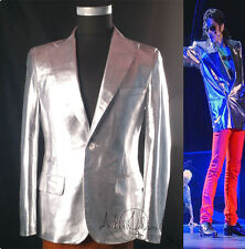 Rare Classic MJ Michael Jackson This is it Silver Jacket Informal Suit Blazer