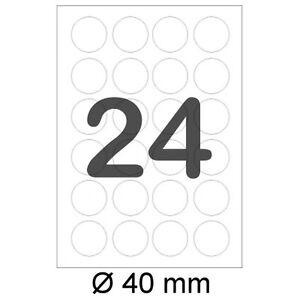 2400-runde-Etiketten-40-mm-rund-selbstklebend-auf-DIN-A4-Bogen-3415-5066-Weiss