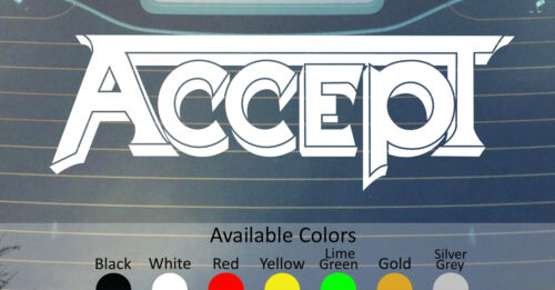 ACCEPT VINYL DECAL STICKER CUSTOM SIZE//COLOR GRAVE DIGGER WASP ANVIL EXCITER DIO