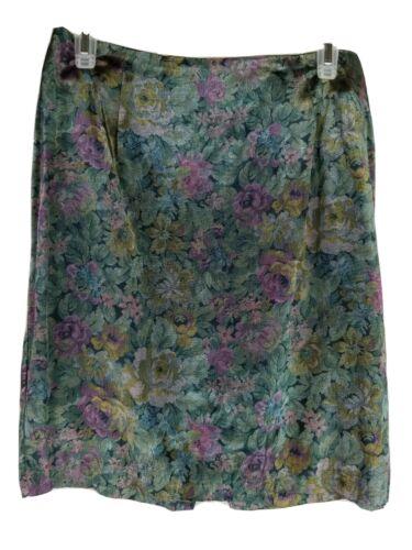 Vintage Marnie West Women Skirt Sz 11 A-Line Flora
