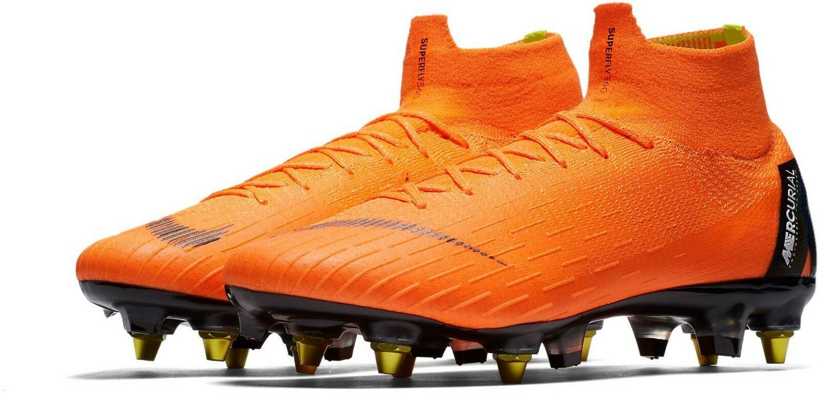 Nike súperfly 6 Elite Sg-pro anti obstruir-UK Talla 6-Naranja Negro (AH7366-810)