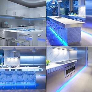 Cool Blue LED Kitchen Strip Light Set Cabinet Plinth Warm Under