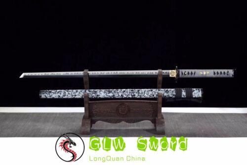 "Details about  /41/""Spring Steel Katana Japanese Samurai Sword Sharp Blade Alloy Tsuba Handmade"