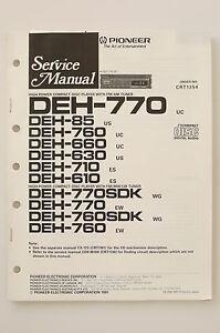 PIONEER-DEH-770-85-760-660-630-710-610-Original-manuel-de-Service-Amplificateur