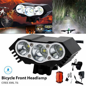 CREE-XML-T6-LED-Bike-Bicycle-Cycling-Headlight-Front-Rare-Head-Tail-Lights-Lamp
